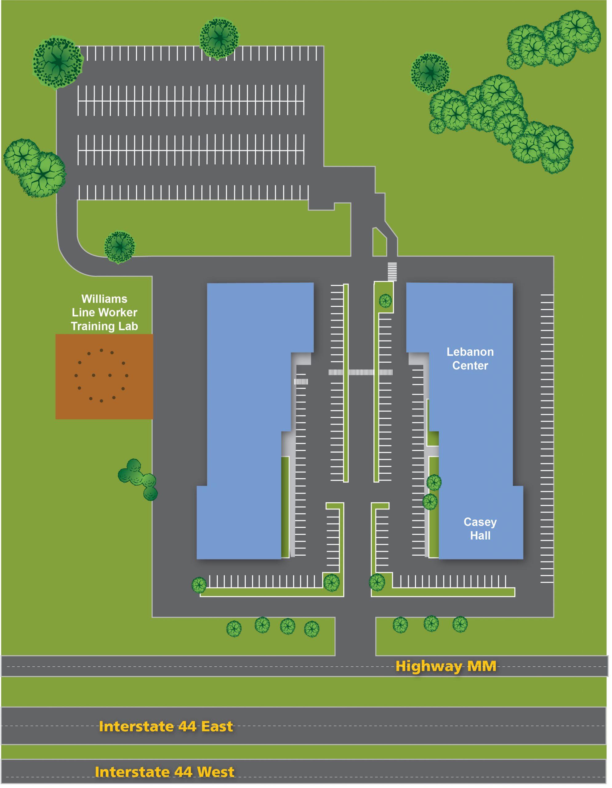 Lebanon Center Map